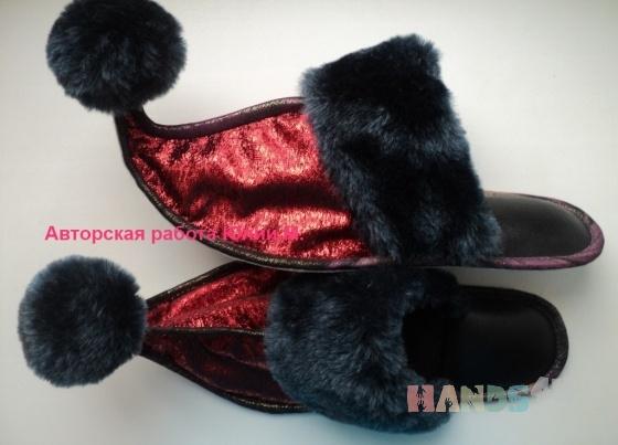 Купить Тапочки ручной работы, Домашние тапочки, Обувь ручной работы. Мастер Юлия  (vostok) . восточный стиль