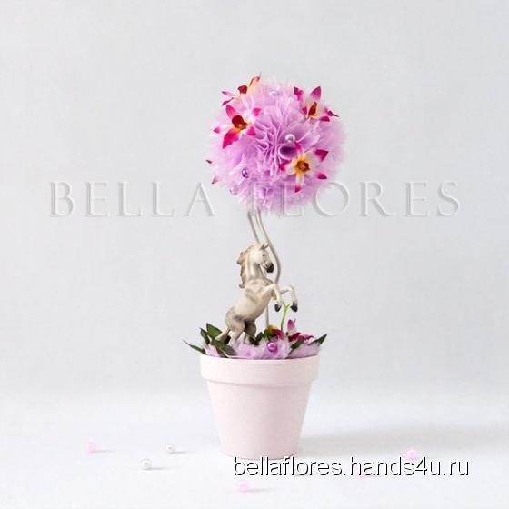 Купить Топиарий сон принцессы, Топиарии, Цветы и флористика ручной работы. Мастер Вероника Чередник (bellaflores) .