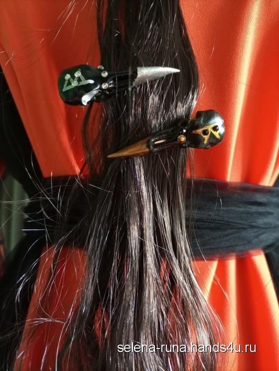Купить Заколка - амулет на женскую привлекательность, Личные, Обереги, талисманы, амулеты, Фен-шуй и эзотерика ручной работы. Мастер   (Selena-runa) . эксклюзивная заколка для волос