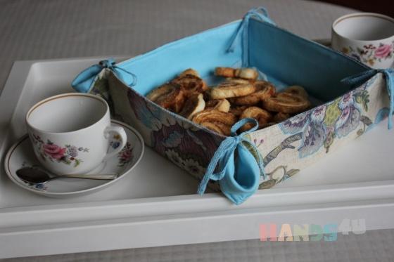 Купить Корзинка для печенья из текстиля, Для дома и интерьера ручной работы. Мастер Ирина Сухина (iraida2803) . корзинка печенья лен текстиль