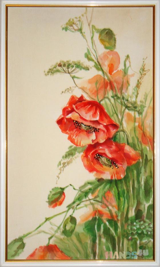 Купить Маки, Картины цветов, Картины и панно ручной работы. Мастер Елена Разина (Razinalena) . цветы