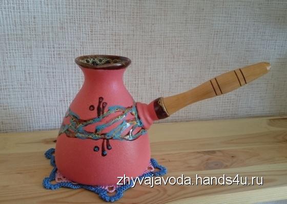 Купить Турка керамика 500 мл, Чайники, кофейники, Посуда ручной работы. Мастер Анжела Кулиш (zhyvajavoda) . дом
