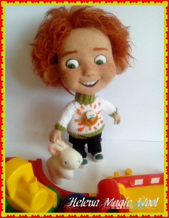 Купить Солнце конопатое, Войлочные, Коллекционные куклы, Куклы и игрушки ручной работы. Мастер Елена Масур (ElenaMasyr) . кукла