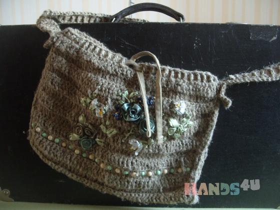 Купить Flowered bag, Экосумки, Сумки и аксессуары ручной работы. Мастер Лера Говорова (valeriana) . вязаная сумка