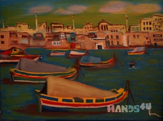 Купить Мальта, Картины и панно ручной работы. Мастер Александр Костенко (kostenko67) . картина маслом