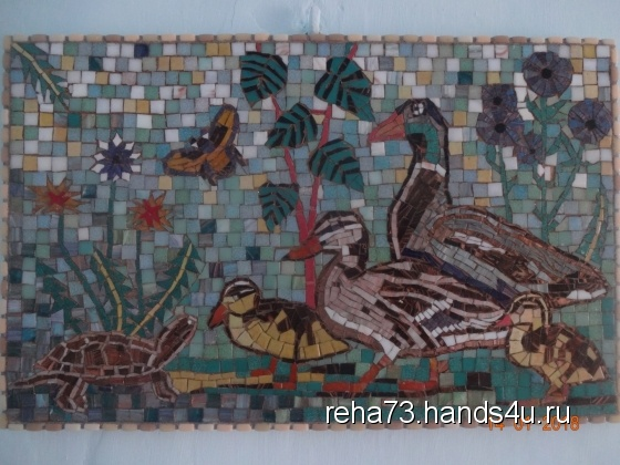 Купить Мозаичное панно УТКИ, Животные, Картины и панно ручной работы. Мастер Игорь Рёхин (reha73) . мозаика