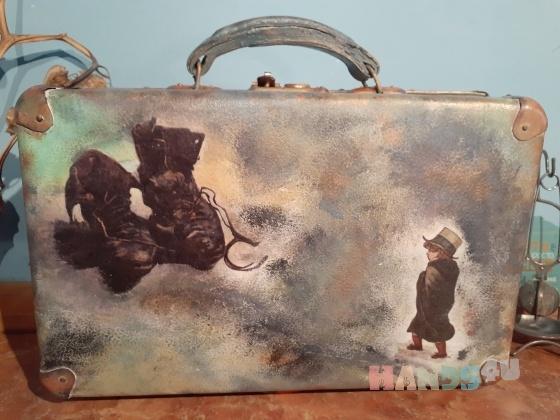 Купить Чемодан винтажный, Корзины, коробы, Для дома и интерьера ручной работы. Мастер Мария Пешехонова (vashamat) .