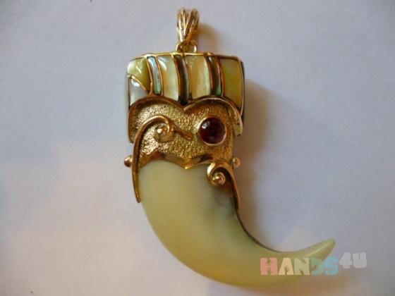 Купить золотой кулон Коготь тигра авторская работа художника, Смешанная техника, Кулоны, подвески, Украшения ручной работы. Мастер анатолий илюхин (klik12) . авторский кулон