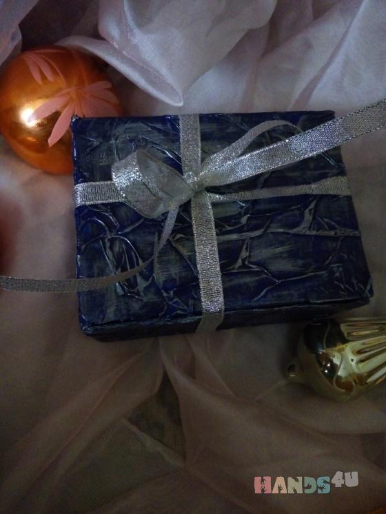 Купить Подарочная коробочка Серебро, Подарочная упаковка, Сувениры и подарки ручной работы. Мастер Yuliya Svetlitskaya (YuliyaSvet) . упаковка