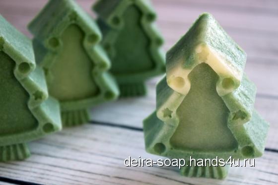Купить SPA Сосна и Эвкалипт натуральное мыло с нуля подарок на Новый Год, Мыло-скраб, Мыло, Косметика ручной работы. Мастер Лидия Паршунина (deira-Soap) .