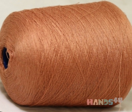 Купить Лен карамель  кирпичный и оранж , Промышленная, Пряжа, Вязание ручной работы. Мастер Елена Кружевница (perevit) .