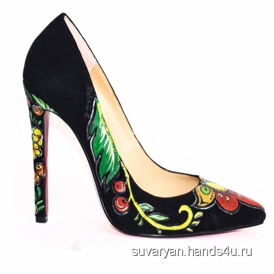 Купить Туфли с росписью, Летняя обувь, Обувь ручной работы. Мастер Anastasia Suvaryan (Suvaryan) . классические туфли