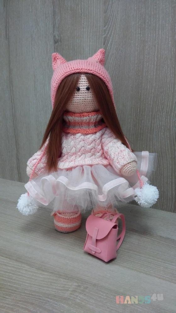 Купить Куколка Дашенька с рюкзачком, Куклы и игрушки ручной работы. Мастер Марина Федорина (-Fedorina8) .