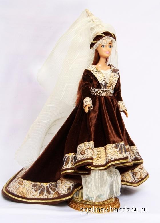Купить Исторический костюм на кукле Барби ГОТИКА, Смешанная техника, Коллекционные куклы, Куклы и игрушки ручной работы. Мастер Галина Павлова (PGalinaV) .
