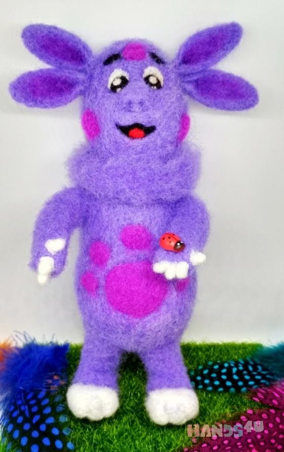 Купить Лунтик из шерсти, Другие животные, Зверята, Куклы и игрушки ручной работы. Мастер Екатерина Шинкаренко (episton2) . авторская игрушка