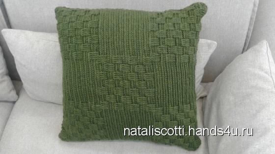 Купить Декоративная диванная подушка, Вязаные, Подушки, Текстиль, ковры, Для дома и интерьера ручной работы. Мастер   (NataliScotti) . вязаная крючком подушка