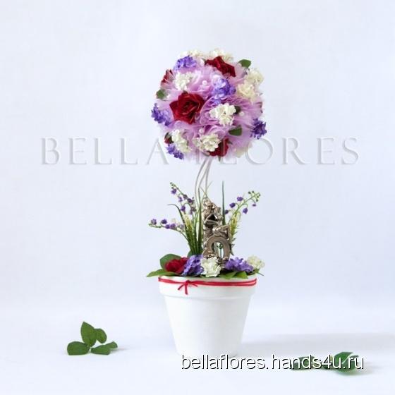 Купить Топиарий страстные объятия, Топиарии, Цветы и флористика ручной работы. Мастер Вероника Чередник (bellaflores) .