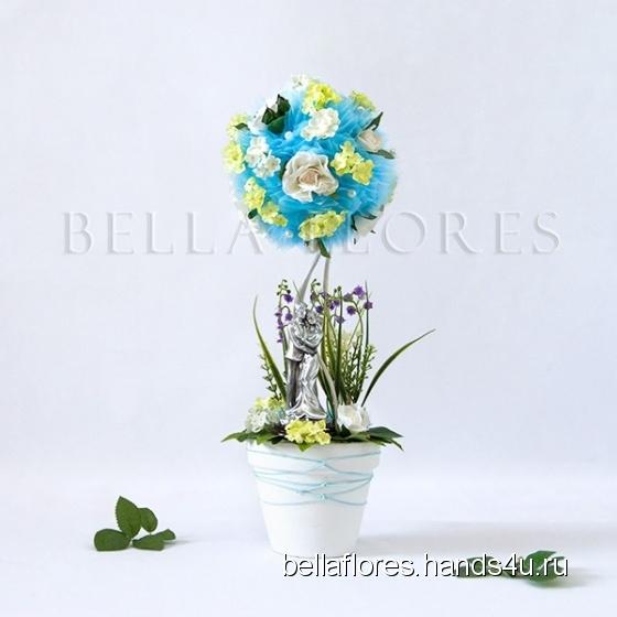 Купить Топиарий небесный брак, Топиарии, Цветы и флористика ручной работы. Мастер Вероника Чередник (bellaflores) . топиарий