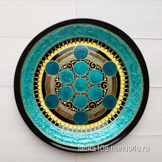 Купить Тарелка декоративная на стену (на подставке) , Для дома и интерьера ручной работы. Мастер Елена Сармина (Latika108) . декоративная тарелка