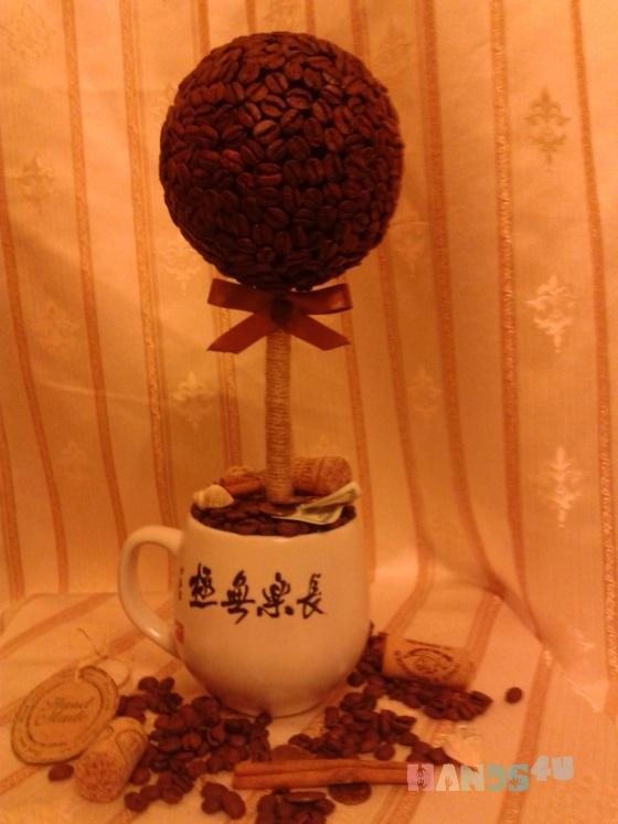Купить Кофейные топиарии, Для дома и интерьера ручной работы. Мастер Анна Леднева (Ledinay) . кофе