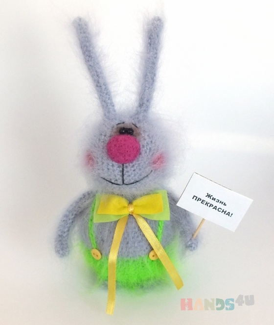 Купить Заяц Тимка, Зайцы, Зверята, Куклы и игрушки ручной работы. Мастер Наталья Салькова (natalisal) . заяц