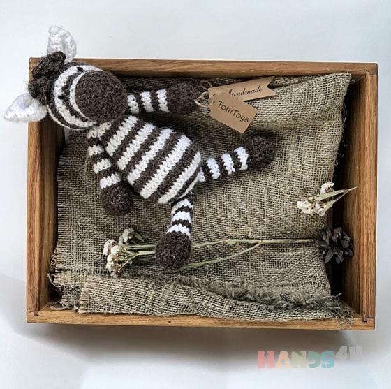 Купить Зебра вязаная, Куклы и игрушки ручной работы. Мастер Татьяна Богданова (TottiToys) .