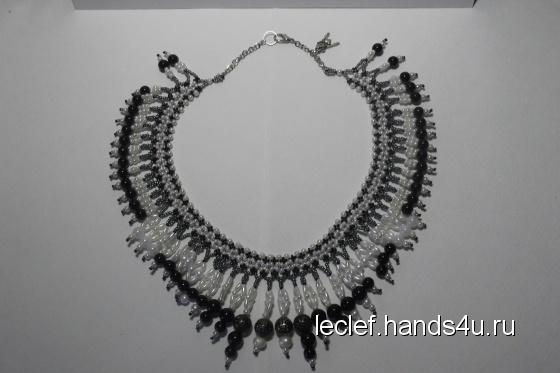 Купить Ожерелье Для любимой женщины вождя, Плетение, Бисер, Колье, бусы, Украшения ручной работы. Мастер Марина Ключко (Leclef) . ожерелье