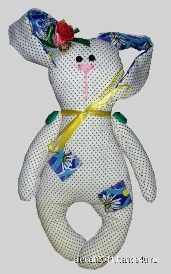Купить Текстильная зайка, Зайцы, Зверята, Куклы и игрушки ручной работы. Мастер Елена  (alenali2011) . интерьерная текстильная игрушка