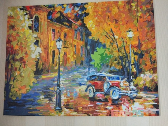 Купить Осень, Город, Картины и панно ручной работы. Мастер Вера Логинова (veraberry) . картина