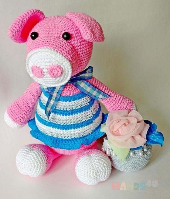 Купить Свинка Виола, Другие животные, Зверята, Куклы и игрушки ручной работы. Мастер светлана тимофеева (svetlan4k) .