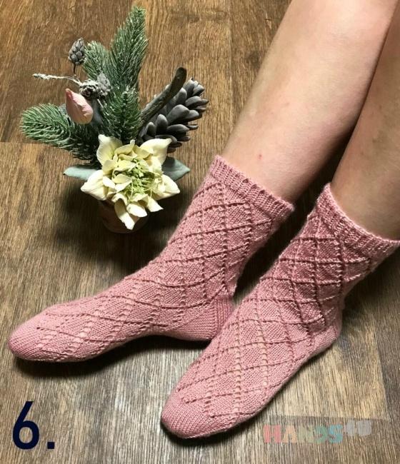 Купить ажурные носки, Одежда ручной работы. Мастер Марина Белоконь (vfhecz1234) . носки вязаные