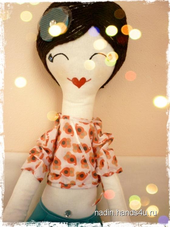 Купить Длинниногая куколка, Куклы Тильды, Куклы и игрушки ручной работы. Мастер Nadin R (Nadin) . авторская кукла