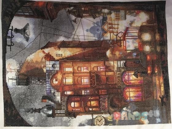 Купить Ночной город, Город, Картины и панно ручной работы. Мастер Марина Журавлева (-Marina-) .