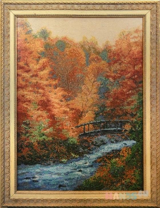 Купить Осень в лесу, Картины и панно ручной работы. Мастер   (marina598) .