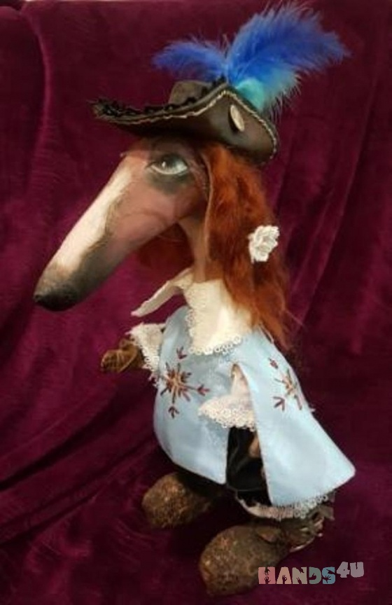 Купить Интерьерная текстильная игрушка Борзая Мушкетер, Текстильные, Коллекционные куклы, Куклы и игрушки ручной работы. Мастер Марина Непомнящая (MarinaNep) . интерьерная текстильная игрушка