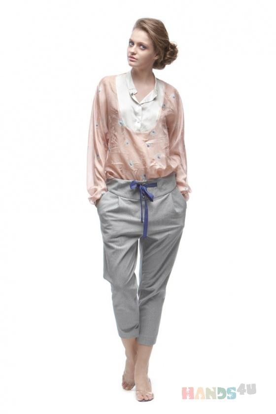 Купить Блузка из шелка с длинным рукавом, Блузки, Одежда ручной работы. Мастер Оксана ЛИ (sanastudio) . блуза летняя