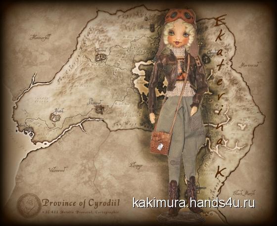 Купить Лётчица Тина, Текстильные, Коллекционные куклы, Куклы и игрушки ручной работы. Мастер Екатерина Ким (Kakimura) .