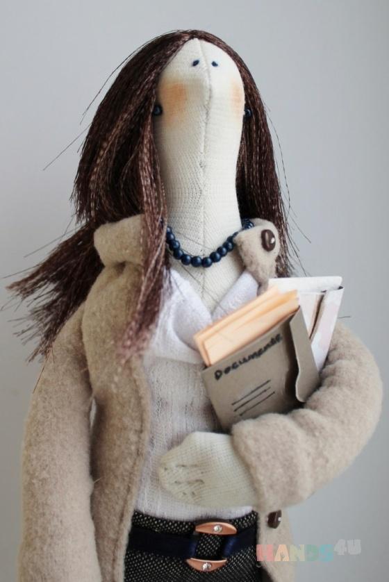 Купить текстильная кукла Деловая леди, Куклы Тильды, Куклы и игрушки ручной работы. Мастер Ксения Суринова (Morty) . интерьерная кукла