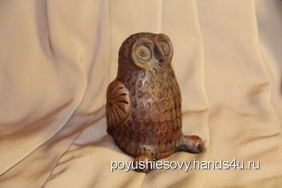 Купить Керамическая свистулька - Сова большая, Статуэтки, Для дома и интерьера ручной работы. Мастер Oleg Kushin (Poyushiesovy) . красная керамическая масса