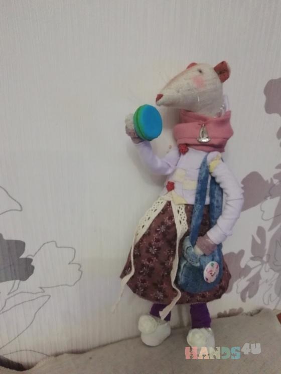 Купить Мышка Маруся с макаронэ, Куклы Тильды, Куклы и игрушки ручной работы. Мастер Татьяна Лымарь (handmade-61) . авторские подарки