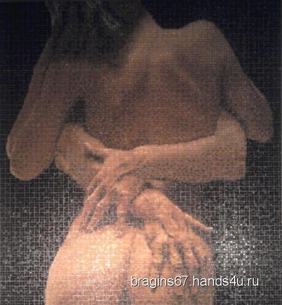 Купить Мозаичная картина 260х280 см, Ню, Картины и панно ручной работы. Мастер Сергей Брагин (bragins67) . стеклянная мозаика