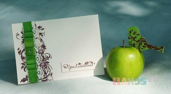 Купить Пригласительные, Свадебные открытки, Свадебный салон ручной работы. Мастер   (Yasenka) .