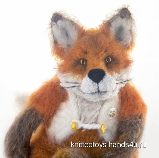 Купить Лис Елисей вязаная лисичка, Другие животные, Зверята, Куклы и игрушки ручной работы. Мастер Анна  (knittedtoys) . авторская лиса