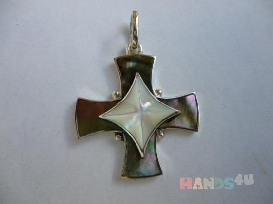 Купить серебряный крест Звезда 1 авторская работа, Смешанная техника, Кулоны, подвески, Украшения ручной работы. Мастер анатолий илюхин (klik12) . авторский кулон