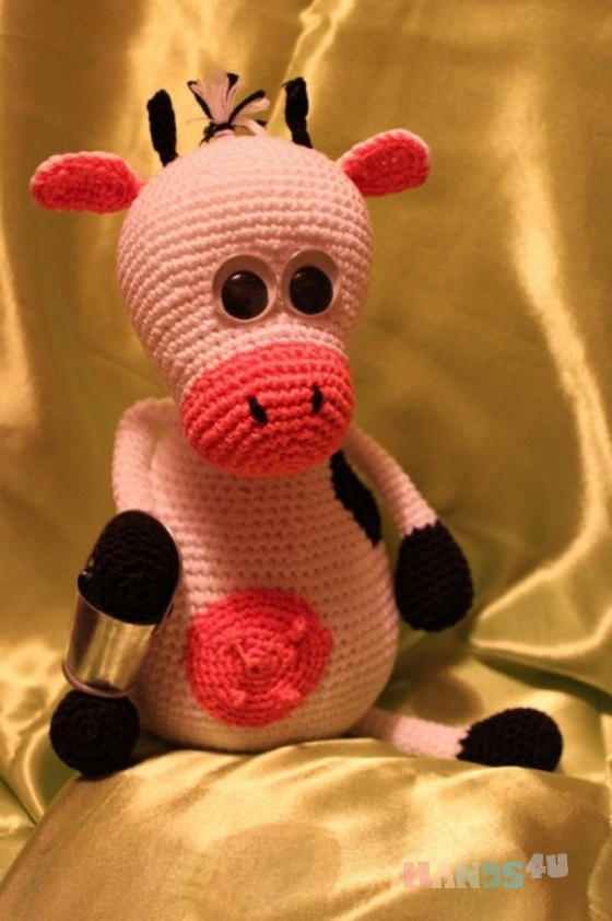 Купить Милая коровка, Коровки и бычки, Зверята, Куклы и игрушки ручной работы. Мастер Елена  (Lisa-Alisa) . вязаная игрушка