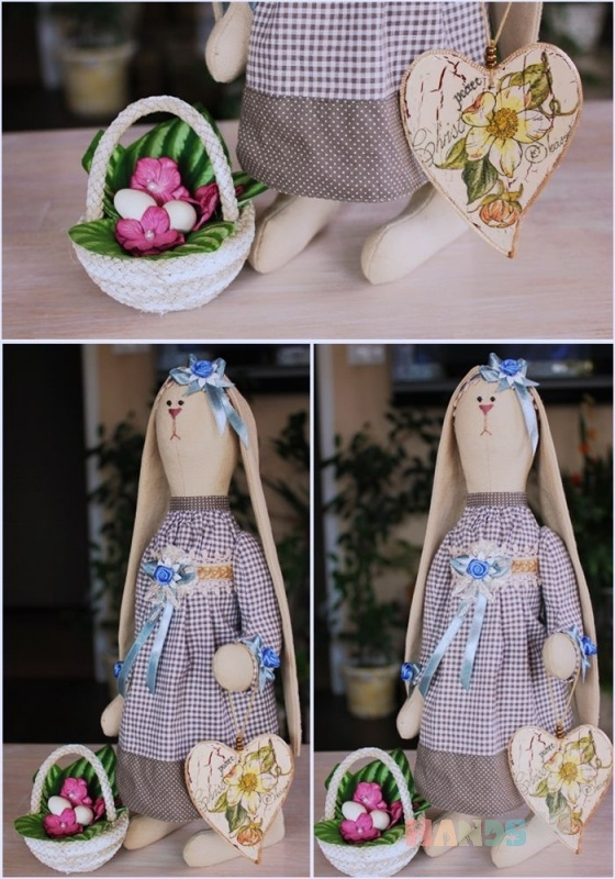 Купить Зайка с большим сердцем, Куклы Тильды, Куклы и игрушки ручной работы. Мастер Сана Куклы (Sana) . интерьерная кукла