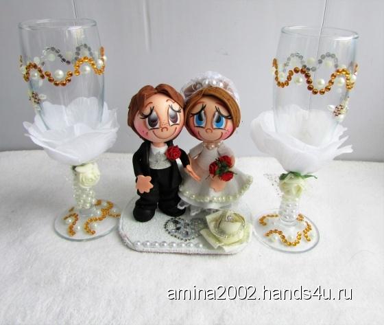 Купить Свадебные статуэтки, Подарки на свадьбу, Свадебный салон ручной работы. Мастер Венера Хасанова (amina2002) . аксессуары для свадьбы