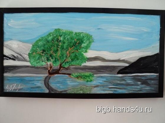 Купить Одиночество, Пейзаж, Картины и панно ручной работы. Мастер   (BigB) . витражная картина