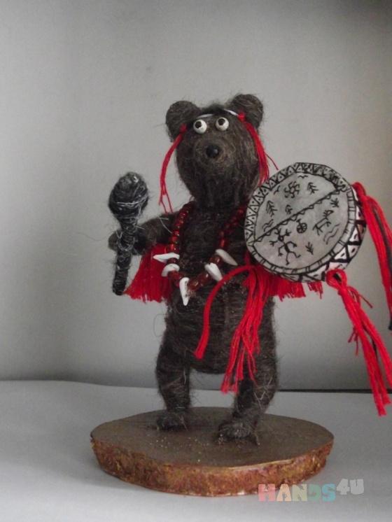 Купить Медведь шаман, Смешанная техника, Миниатюра, Куклы и игрушки ручной работы. Мастер Наталья Жебрунова (tasha) .
