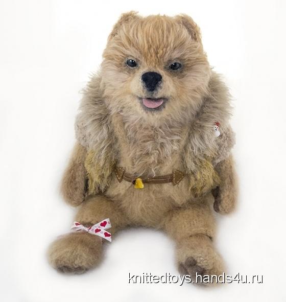 Купить Собачка Шпиц вязаная, Собаки, Зверята, Куклы и игрушки ручной работы. Мастер Анна  (knittedtoys) . шпиц